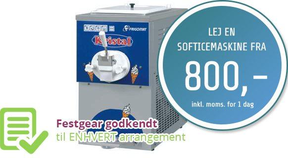 Softicemaskine - Softice - Lej makinen på Sjælland