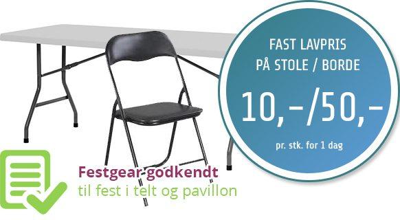 udlejning af borde og stole / Stoleudlejning København